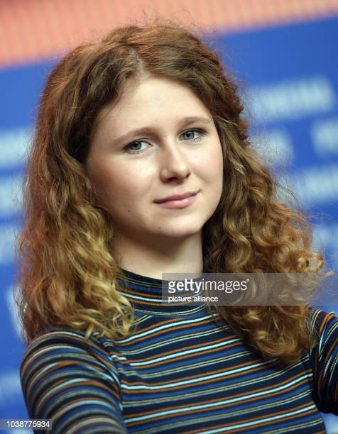 66th International Film Festival in Berlin, Germany, 17 February 2016. Press conference 'Kollektivet' : Actor Martha Sofie Wallstrom Hansen. The film...