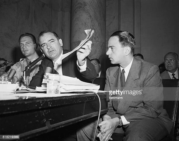 Washington, DC- Pvt. G. David Schine appeared at the Army-McCarthy hearing June 7th to hear a transcript of a monitored call between himself and Army...