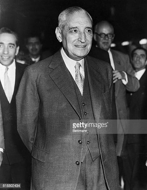 6/7/1959Lisbon Portugal A new portrait of Dr Antonio de Oliveira Salazar the Premier of Portugal