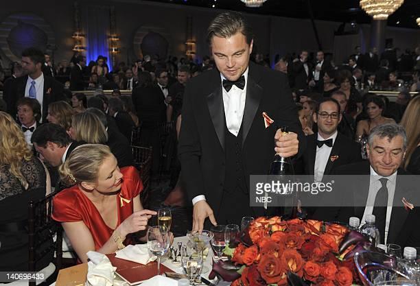 67th ANNUAL GOLDEN GLOBE AWARDS Pictured Cameron Diaz Leonardo DiCaprio Robert De Niro during the 67th Annual Golden Globe Awards held at the Beverly...