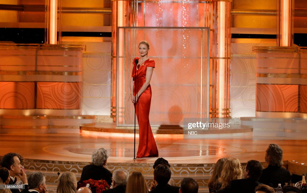 67th ANNUAL GOLDEN GLOBE AWARDS -- Pictured: Cameron Diaz on stage during the 67th Annual Golden Globe Awards held at the Beverly Hilton Hotel on January 17, 2010