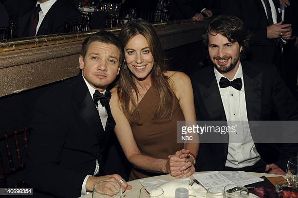 67th ANNUAL GOLDEN GLOBE AWARDS Pictured Jeremy Renner Kathryn Bigelow Mark Boal during the 67th Annual Golden Globe Awards held at the Beverly...