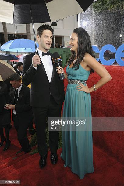 67th ANNUAL GOLDEN GLOBE AWARDS Pictured Justin Bartha during an interview with Laura Saltman at the 67th Annual Golden Globe Awards held at the...