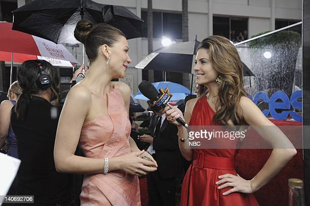 67th ANNUAL GOLDEN GLOBE AWARDS Pictured Maggie Gyllenhaal during an interview with Maria Menounos at the 67th Annual Golden Globe Awards held at the...
