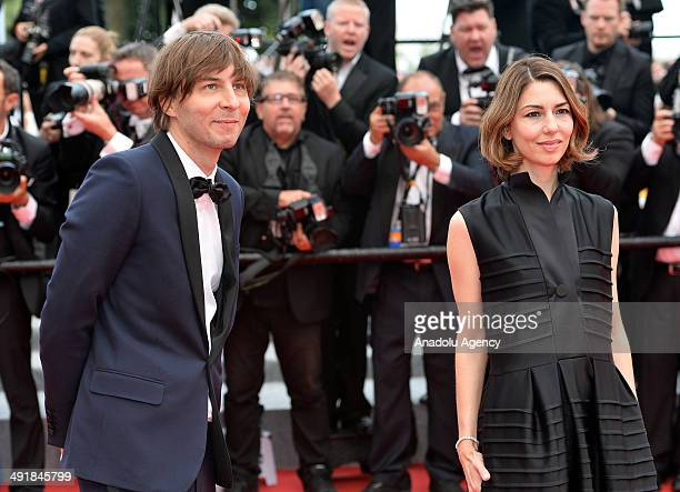 67th Cannes Film Festival Jury member US director Sofia Coppola and French musician Thomas Mars attend the film screening of 'Saint Laurent' during...