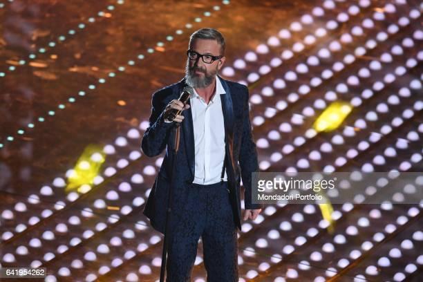 67th Sanremo Music Festival 5th night Marco Masini performs Sanremo February 11 2017
