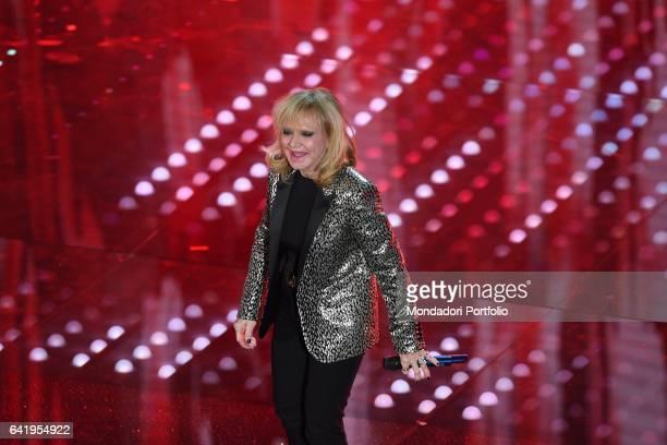 67th Sanremo Music Festival 5th night Rita Pavone performs Sanremo February 11 2017