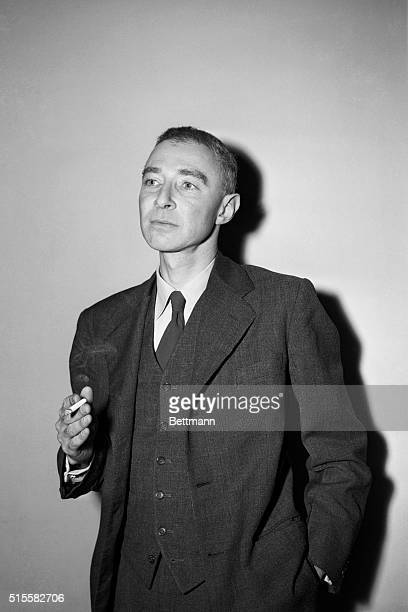 6/8/1949Washington DC J Robert Oppenheimer brother of the noted Atomic scientist waits to testify at a closed hearing of the House on UnAmerican...