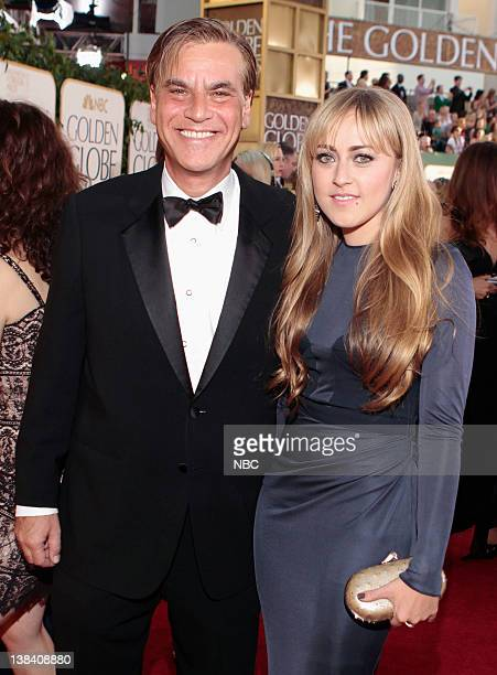 68th ANNUAL GOLDEN GLOBE AWARDS Pictured Aaron Sorkin and wife Julia Bingham arrive at the 68th Annual Golden Globe Awards held at the Beverly Hilton...