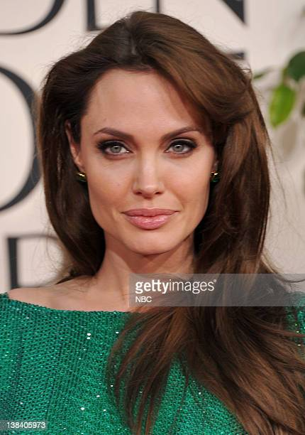 68th ANNUAL GOLDEN GLOBE AWARDS Pictured Angelina Jolie arrives at the 68th Annual Golden Globe Awards held at the Beverly Hilton Hotel on January 16...