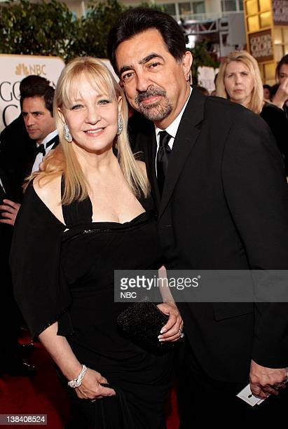 68th ANNUAL GOLDEN GLOBE AWARDS Pictured Arlene Vrhel and Joe Mantegna arrive at the 68th Annual Golden Globe Awards held at the Beverly Hilton Hotel...