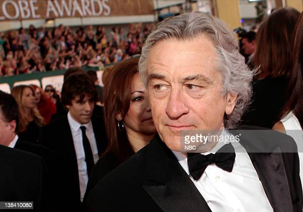 68th ANNUAL GOLDEN GLOBE AWARDS Pictured Robert De Niro arrives at the 68th Annual Golden Globe Awards held at the Beverly Hilton Hotel on January 16...
