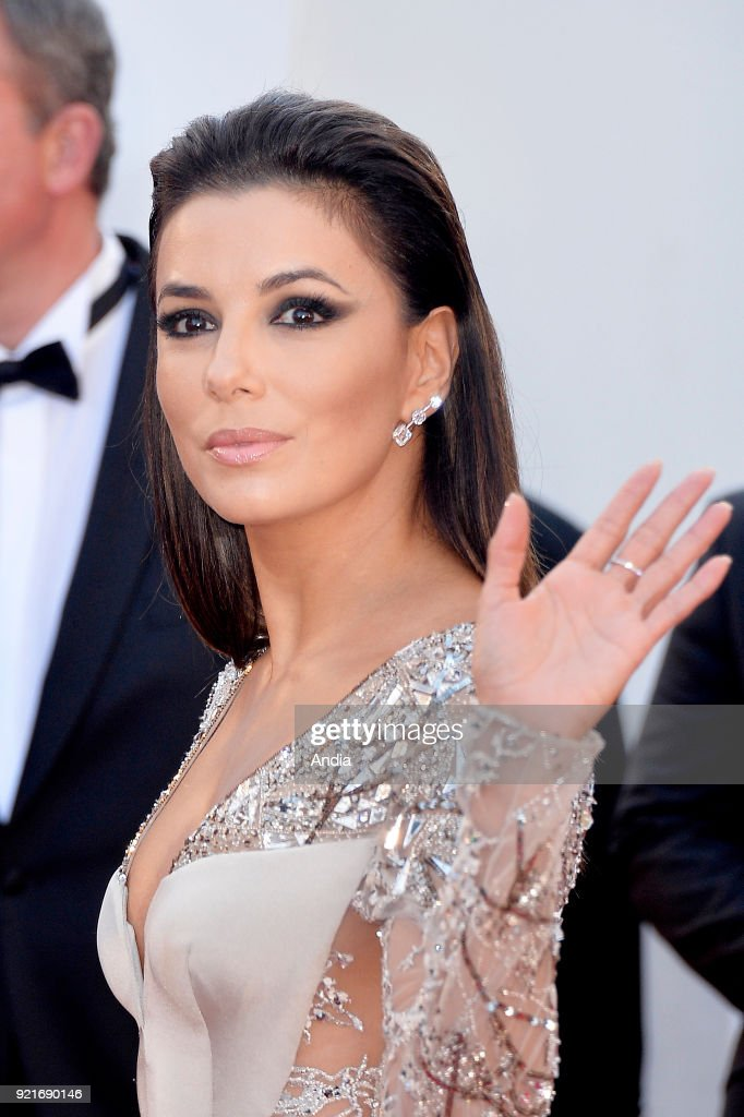 68th Cannes Film Festival. American actress Eva Longoria walking up the famous steps before the screening of the film 'Inside Out' (French: 'Vice-Versa') on .