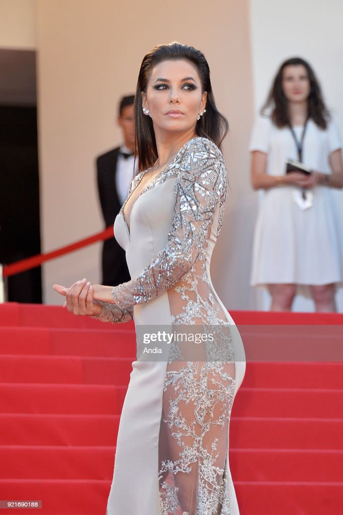68th Cannes Film Festival. American actress Eva Longoria walking up the famous steps before the screening of the film 'Inside Out' (French: 'Vice-Versa') on 2015.