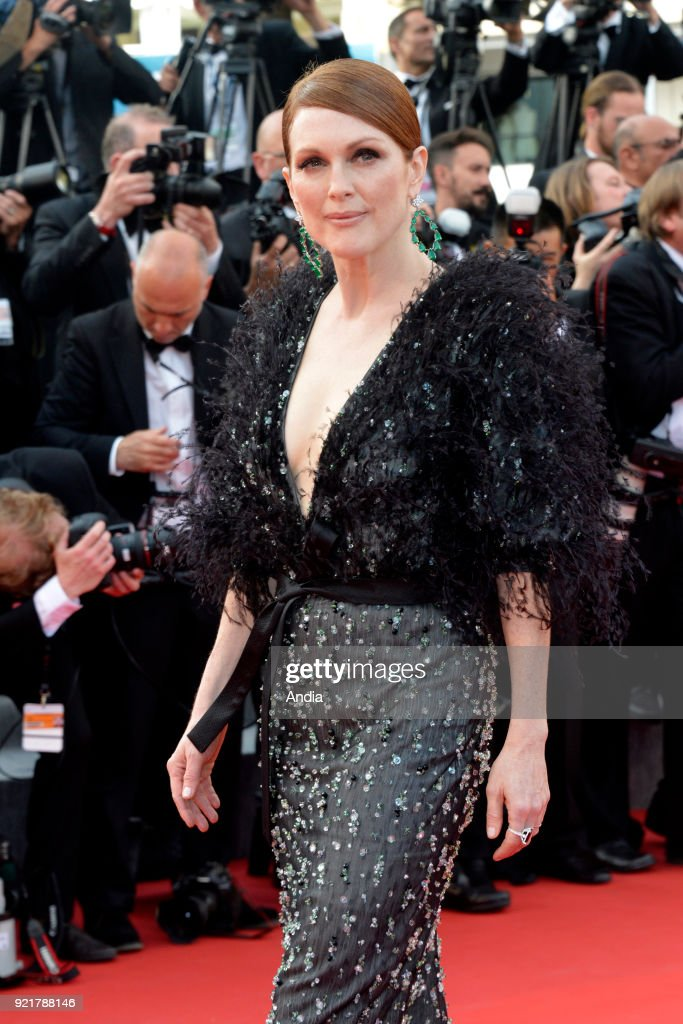 68th Cannes Film Festival. American actress Julianne Moore walking up the famous steps before the screening of the film 'Standing Tall' (French: 'La Tete haute') on .