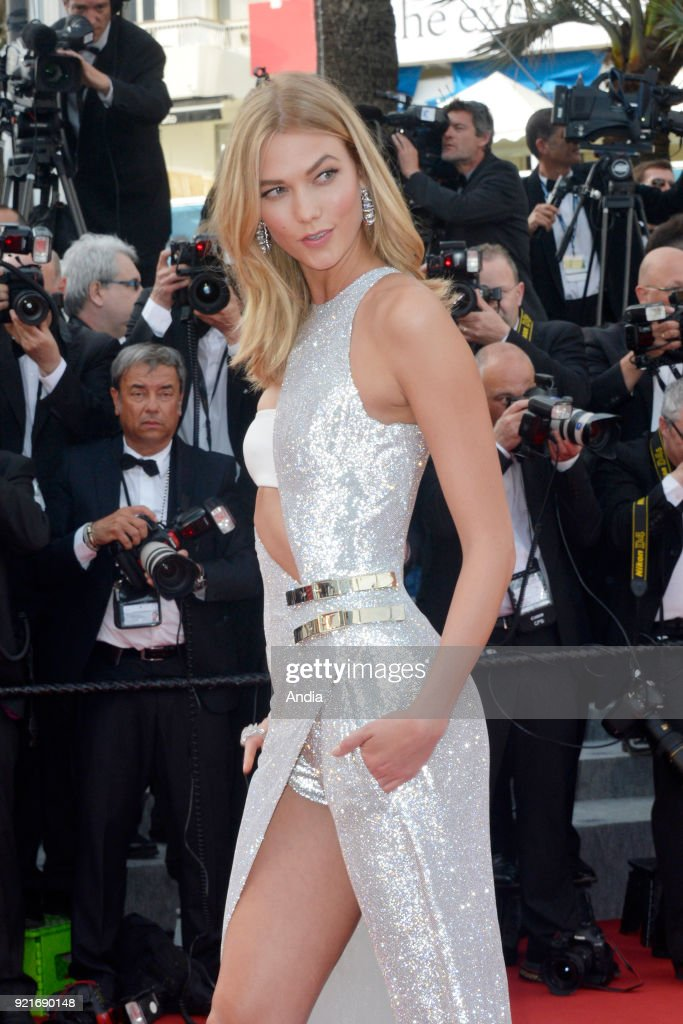 68th Cannes Film Festival. American actress Karlie Kloss walking up the famous steps before the screening of the film 'Standing Tall' (French: 'La Tete haute') on .