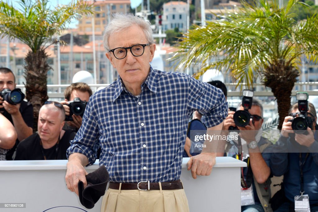 68th Cannes Film Festival. American filmmaker and actor Woody Allen posing during a photocall for the film 'Irrational Man' (French 'L'Homme irrationnel') on .