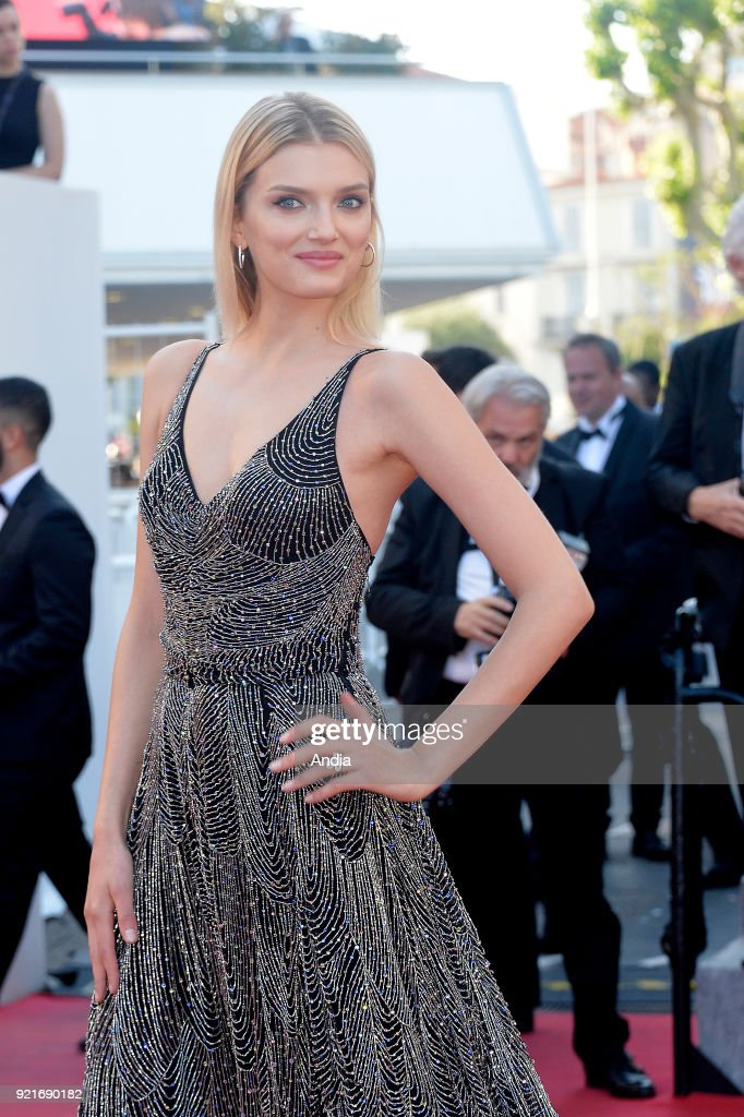 68th Cannes Film Festival. British model Lily Donaldson walking up the famous steps before the screening of the film 'Inside Out' (French: 'Vice-Versa') on .