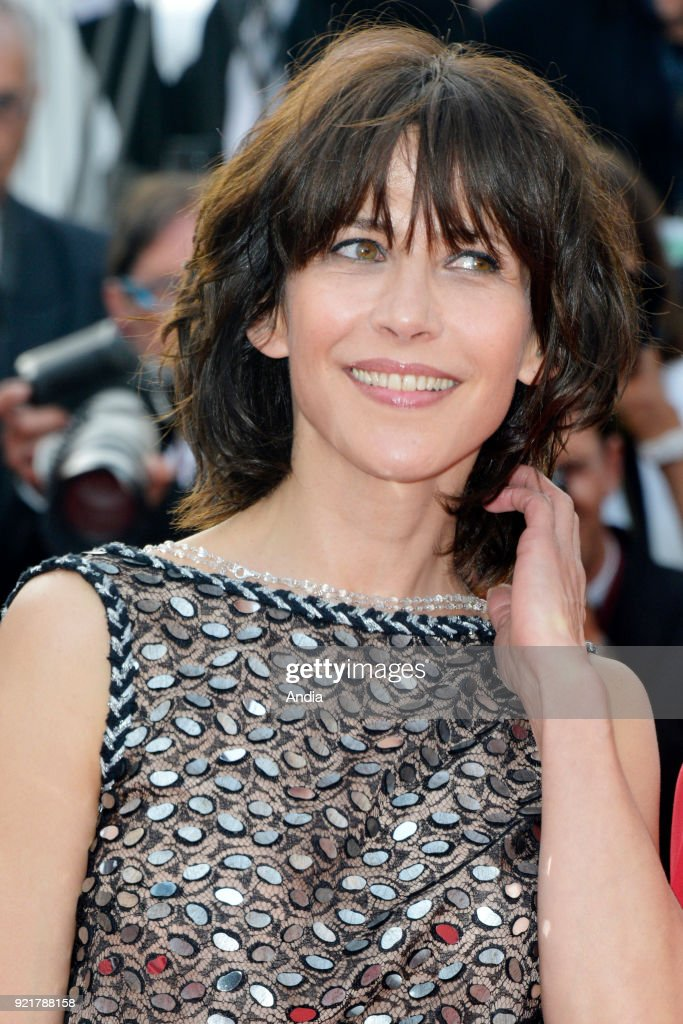 68th Cannes Film Festival. French actress and director Sophie Marceau walking up the famous steps before the screening of the film 'Standing Tall' (French: 'La Tete haute') on .