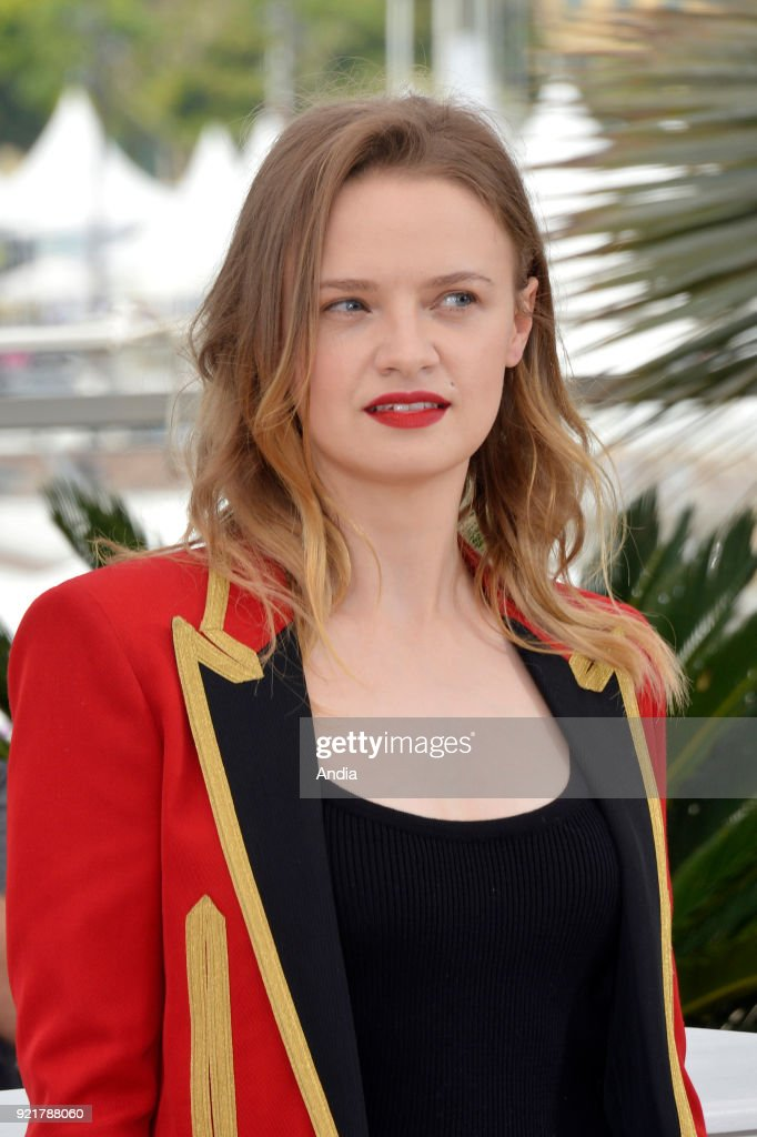 68th Cannes Film Festival. French actress Sara Forestier posing during a photocall for the film 'Standing Tall' (French: 'La tete haute'), on .