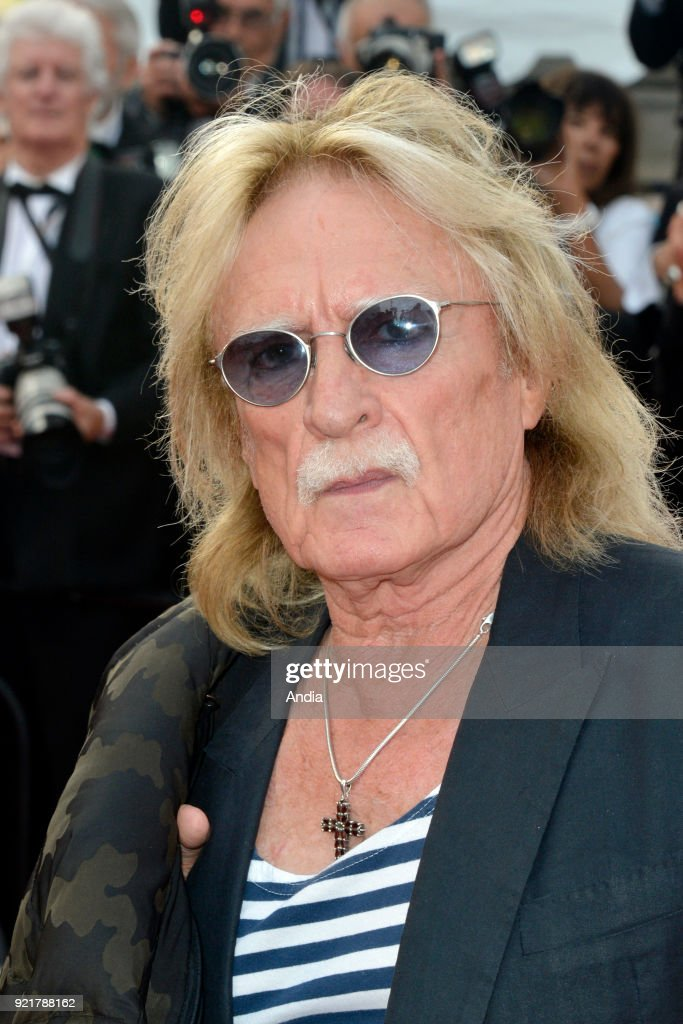 68th Cannes Film Festival. French singer Christophe walking up the famous steps before the screening of the film 'Standing Tall' (French: 'La Tete haute') on .