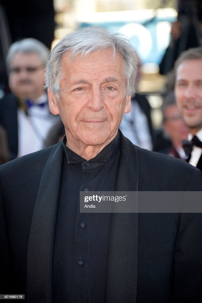 68th Cannes Film Festival. French-Greek filmmaker Costa Gavras walking up the famous steps before the screening of the film 'Inside Out' (French: 'Vice-Versa') on .