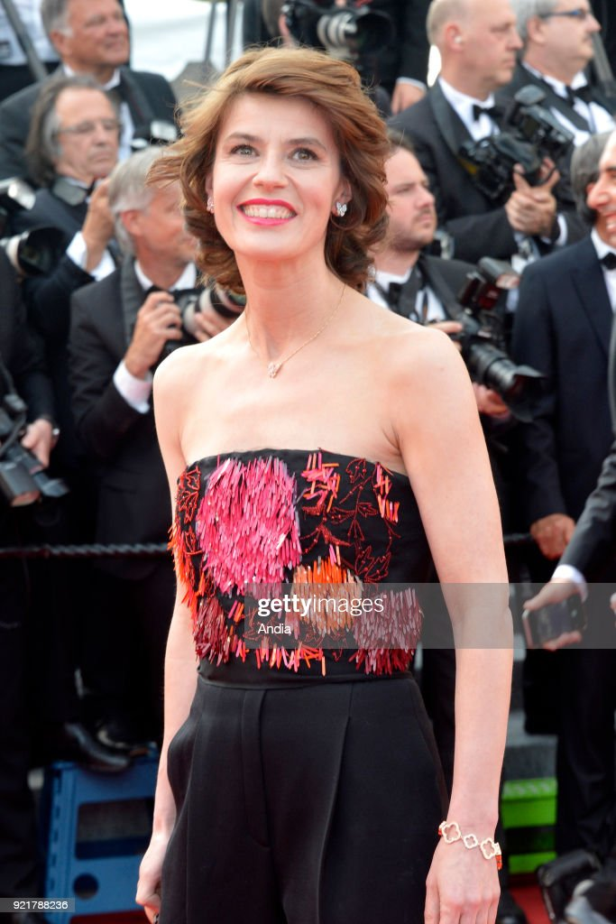 68th Cannes Film Festival. French-Swiss actress Irene Jacob walking up the famous steps before the screening of the film 'Standing Tall' (French: 'La Tete haute') on .