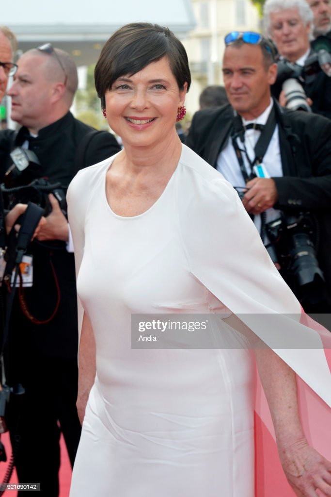 68th Cannes Film Festival. Italian-American actress Isabella Rossellini walking up the famous steps before the screening of the film 'Standing Tall' (French: 'La Tete haute') on .