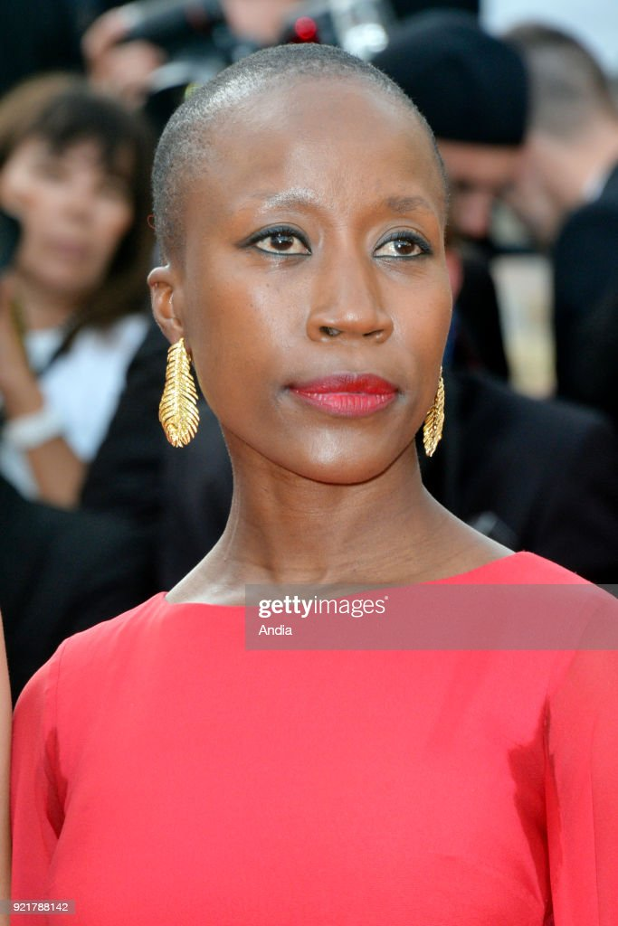 68th Cannes Film Festival. Malian singer Rokia Traore walking up the famous steps before the screening of the film 'Standing Tall' (French: 'La Tete haute') on .