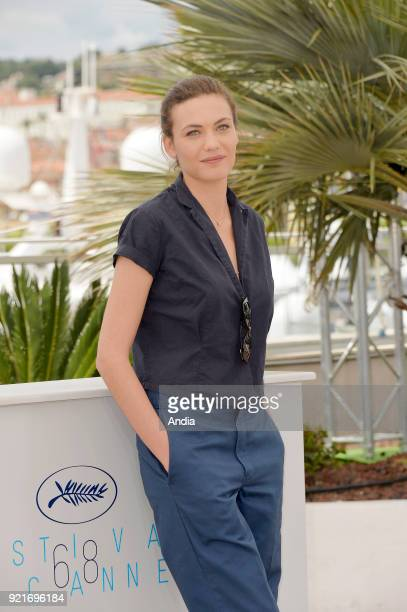 68th Cannes Film Festival Swiss actress Aomi Muyock posing during a photocall for the film 'Love' on