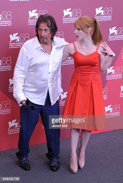 Actors Al Pacino and Jessica Chastain