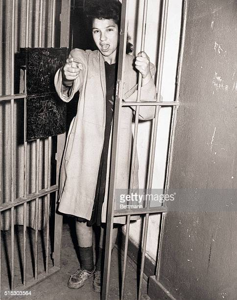 6/9/1943Los Angeles CAPhoto shows the mother of a 20monthold child Mrs Amelia Venegas who pleaded guilty to disturbing the peace the aftermath of a...