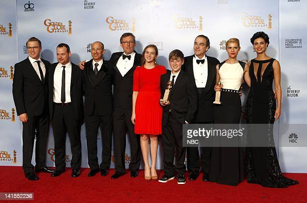 69th ANNUAL GOLDEN GLOBE AWARDS Pictured Cast and producers of Homeland winner of best television series – drama Cast and producers of Homeland...