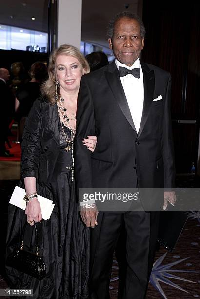 69th ANNUAL GOLDEN GLOBE AWARDS Pictured Joanna Shimkus and Sidney Poitier during the 69th Annual Golden Globe Awards held at the Beverly Hilton...