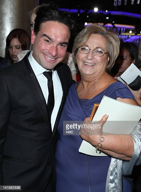 69th ANNUAL GOLDEN GLOBE AWARDS Pictured Johnny Galecki mother Mary Lou Galecki during the 69th Annual Golden Globe Awards held at the Beverly Hilton...