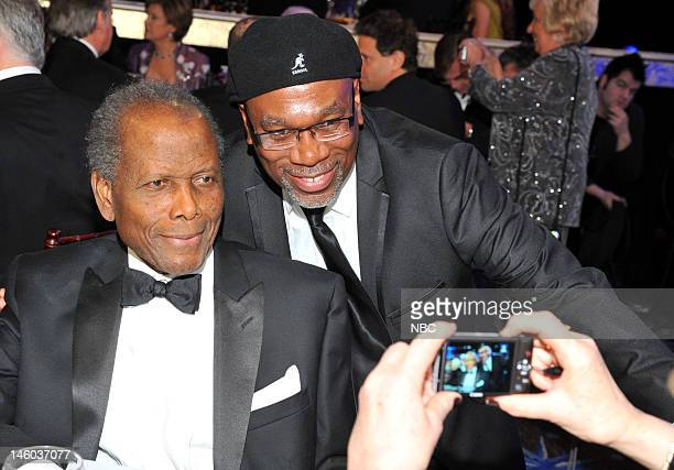 69th ANNUAL GOLDEN GLOBE AWARDS Pictured Sidney Poitier Alfonso Freeman during the 69th Annual Golden Globe Awards held at the Beverly Hilton Hotel...