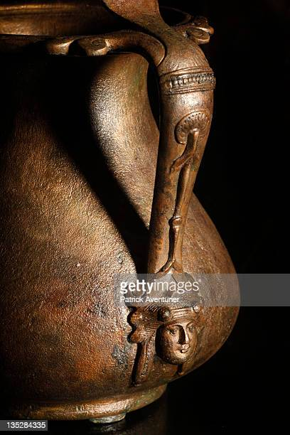 Artifacts from the Arles Rhone 3 are displayed in the Arles Ancient History Museum on September 62011 in ArlesFrance The exhibition displays the...