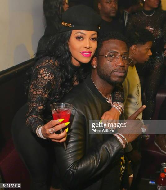 Keyshia Ka'oir and Gucci Mane attend Ralo Signing Party Hosted By Gucci Mane at Josephine Lounge on March 6 2017 in Atlanta Georgia