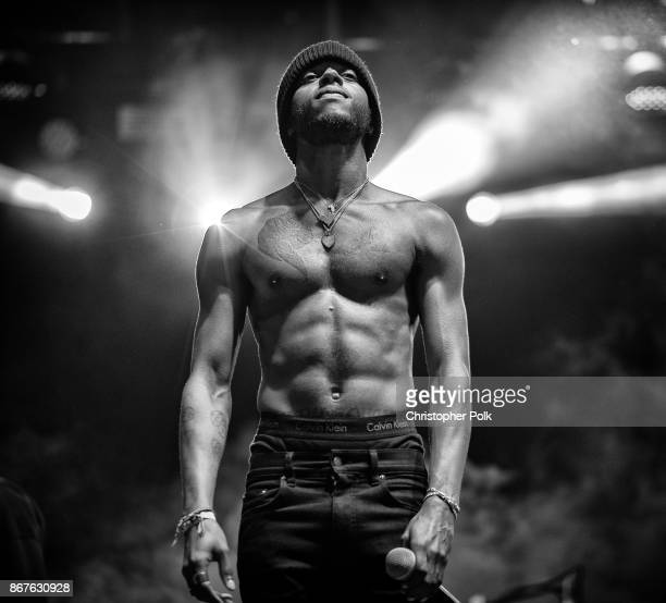 6Lack performs during the Camp Flog Gnaw Carnival at Exposition Park on October 28 2017 in Los Angeles California