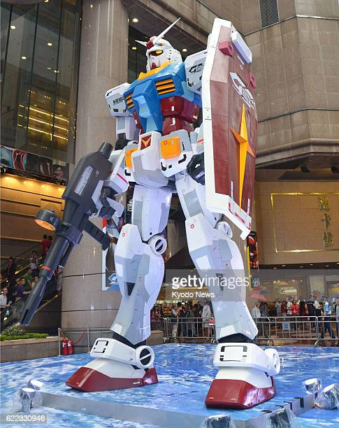 KONG A 6metertall 'Gundam' robot model is displayed at a major commercial complex in Hong Kong on July 25 2013