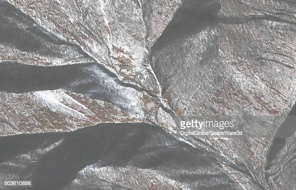 DigitalGlobe Satellite Imagery of North Korea's Punngye Nuclear test Site This image was taken shortly after the underground Nuclear Test on January...