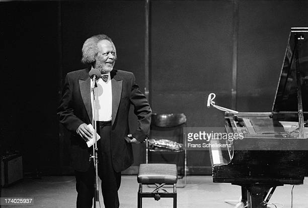 6th: American jazz pianist Jaki Byard performs at the BIM Huis in Amsterdam, Netherlands on 6th April 1989.