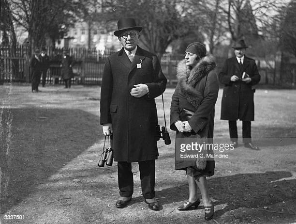 Mrs Herty owner of 'Reigh Court' with her husband at Lingfield Park