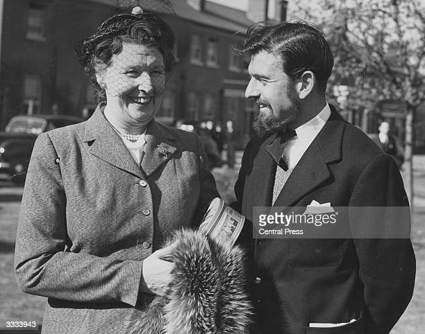 British double agent George Blake with his mother on his arrival back from Korea