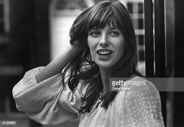 British singer actress and model Jane Birkin best known for 'Je t'Aime' her duet with partner Serge Gainsbourg