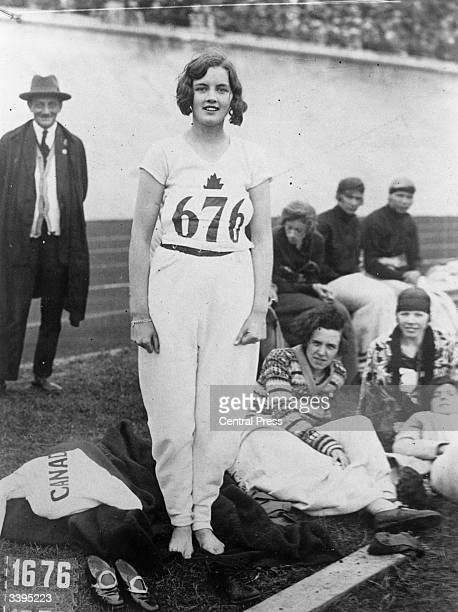 Canadian athlete Ethel Catherwood who won the women's High Jump in the 1928 Olympics at Amsterdam.