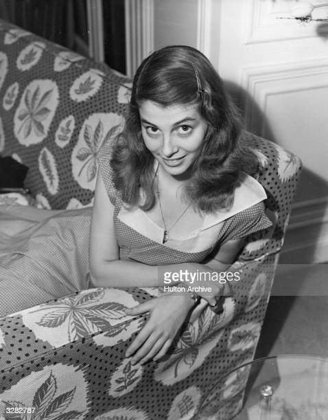 Pier Angeli formerly Anna Maria Pierangeli the Italian actress who moved to Hollywood and is currently the star in 'Teresa'