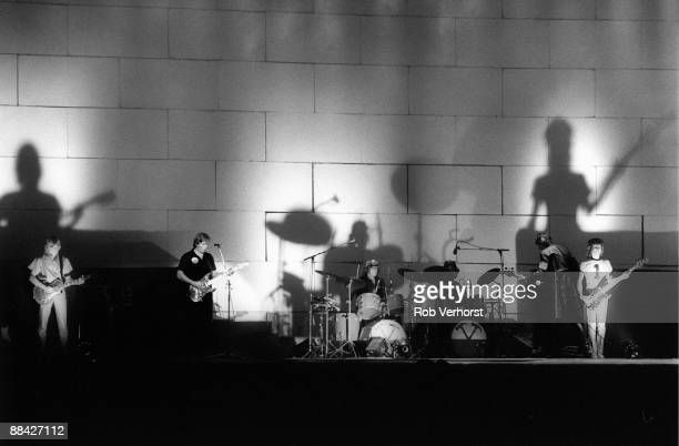 Pink Floyd perform on stage at Earl's Court in London during The Wall tour 6th August 1980