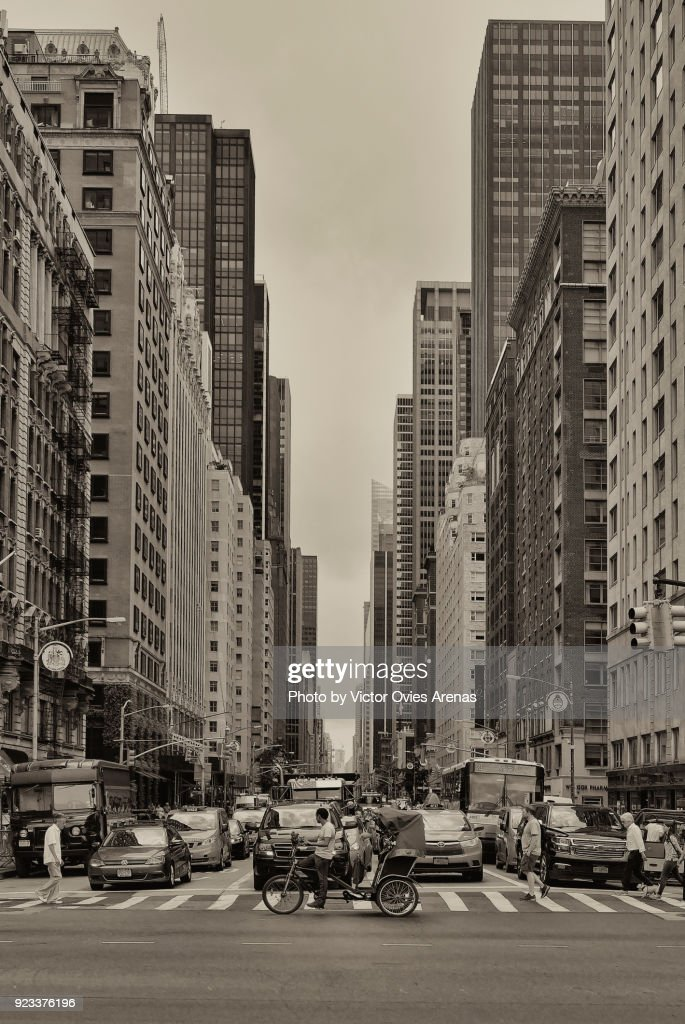 6th Avenue, Manhattan. New York, USA : Foto de stock
