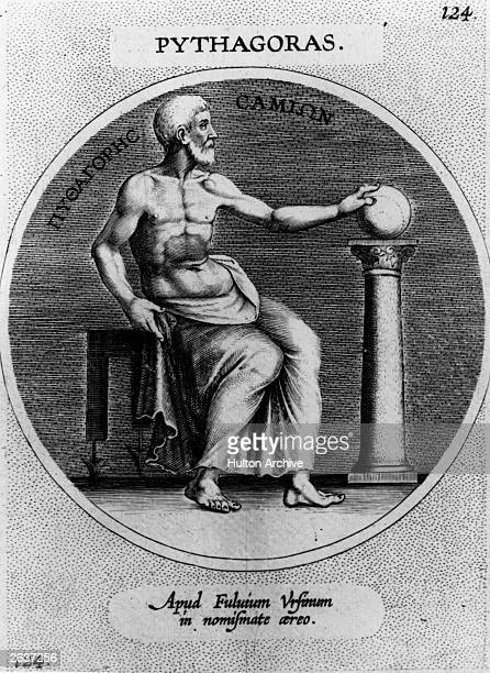 6th century BC Greek philosopher sage and mathematician Pythagoras circa 520 BC who was born in Samos